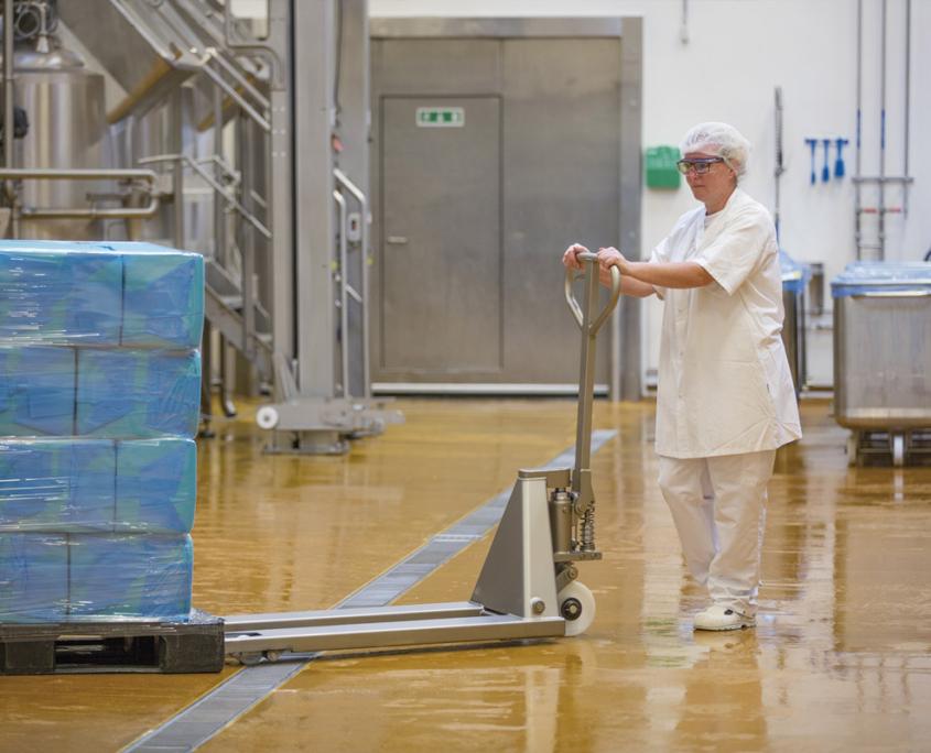 galvaniseret palleløfter til våde miljøer