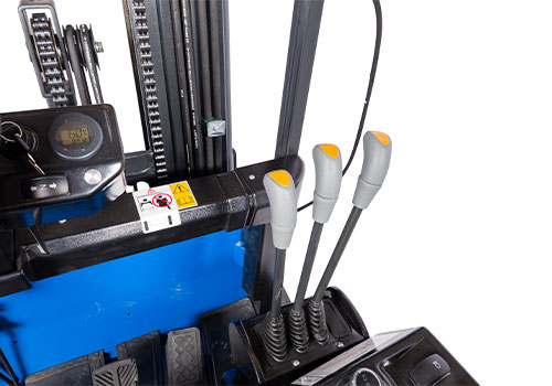 ergonomisk placerede håndtag til gaffeltruck