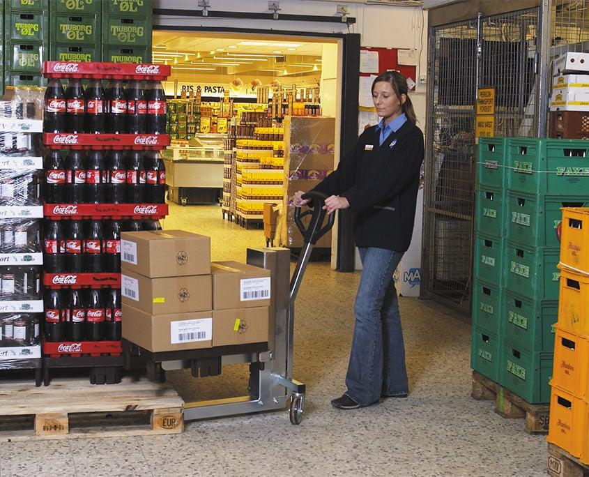 solid butiksvogn fra NH Handling