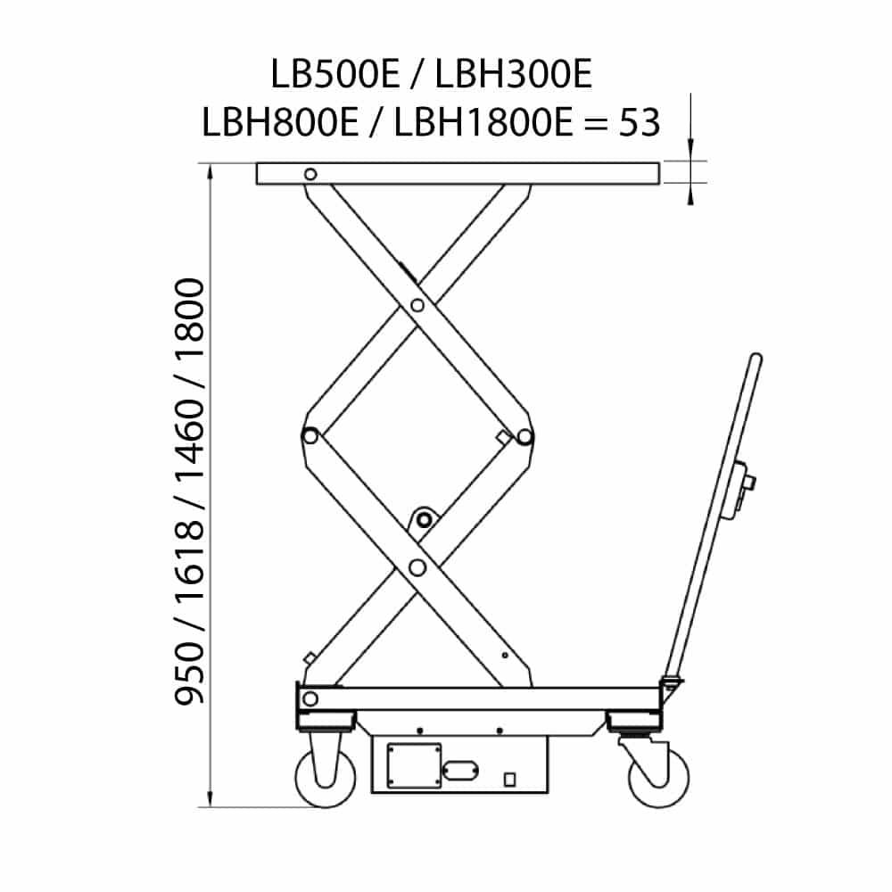 måltegning til hydraulisk elektrisk løftevogn