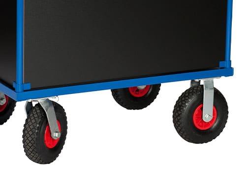 hjultype til enkel og solid ladvogn