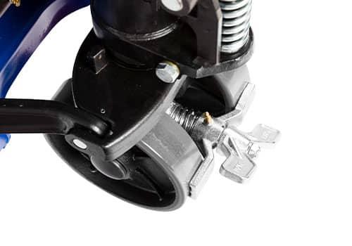 støjsvag palleløfter med gummihjul