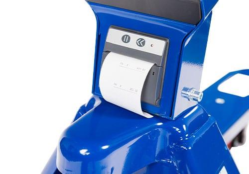 indbygget printer på palleløfter med vægt