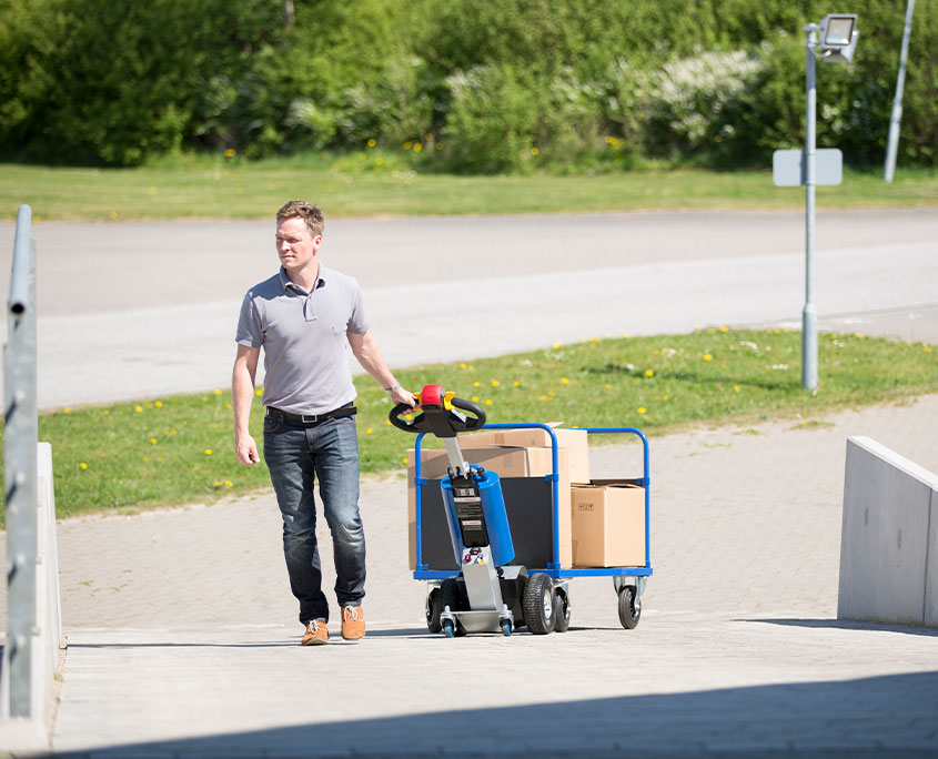 elektrisk trækvogn til bugsering af tung last