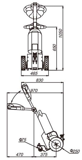 måltegning til elektrisk trækvogn