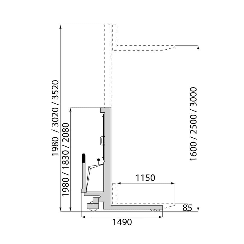 el hydraulisk stabler sb1016e måltegning