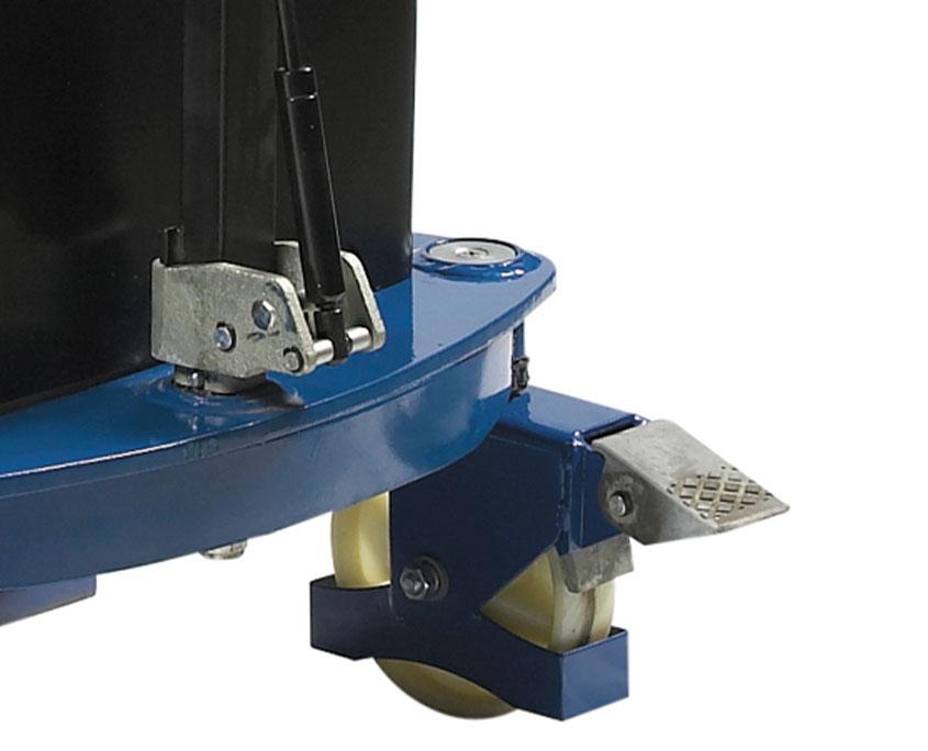 hjul på el-hydraulisk stabler i polyurethan